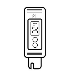 acidity meter ph the chemical tester icon of vector image