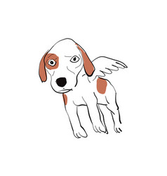 angle dog vector image