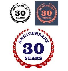 Anniversary laurel wreath design vector image