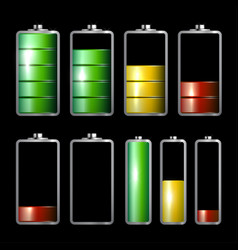 Battery life icons set vector