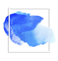 beautiful blue watercolor wet paper texture vector image