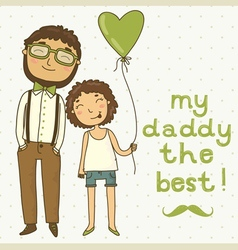 Beautiful of a father and daughter vector image