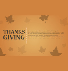 Brown background for thanksgiving card vector