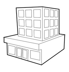 Building icon outline style vector