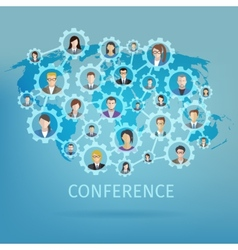Business conference concept vector
