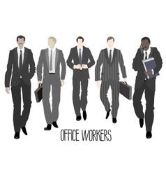Businessmen going forward vector