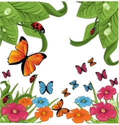 butterfly garden vector image
