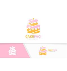 Cake logo combination pie symbol or icon vector