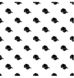 cap pattern seamless vector image