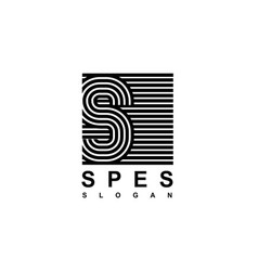 capital letter s is inscribed in a square modern vector image