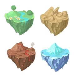 Cartoon Stone flying Island for Game vector