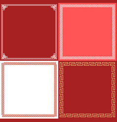 Chinese frame in various style flat design vector