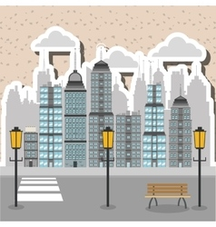 City design building icon urban concept vector