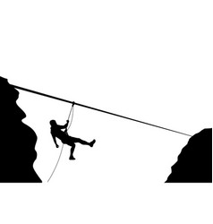 Climber moving down vector