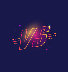 Color neon vs letters vector