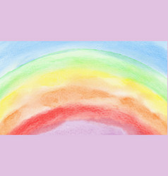 colorful rainbow watercolor for background vector image