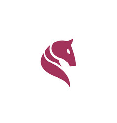creative abstract horse head logo design symbol vector image