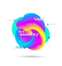 creative design fluid banner with gradients shapes vector image