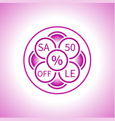 Creative sign sale in a pink tone from circles vector