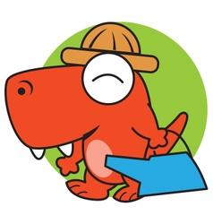 Dinosaur Gardening vector image
