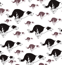 Dog run seamless pattern vector