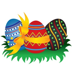 Easter egg group vector