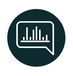 Equalizer bubble talk sound block style icon vector