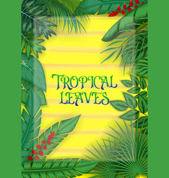 exotic pattern with tropical leaves vector image