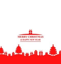 fir gift banner vector image