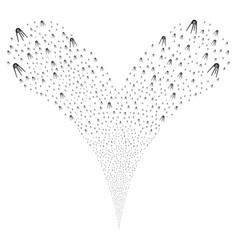 First satellite fountain stream vector