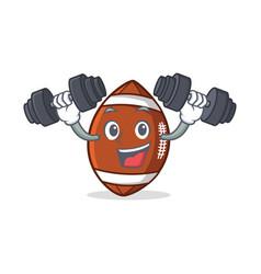 Fitness american football character cartoon vector