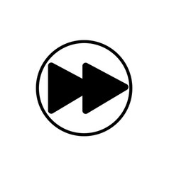 forward music player button linear icon vector image