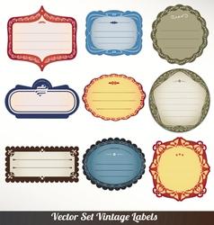 Frame labels set ornamental vintage decorat vector