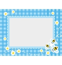 Frame or border with funny bees vector
