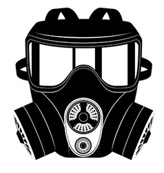 Gas mask black and white 05 vector