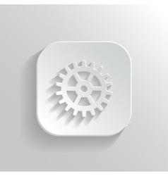 Gear icon - white app button vector
