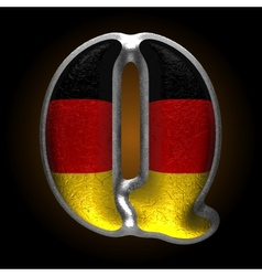 Germany metal figure q vector