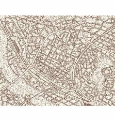 grunge map vector image