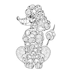 Hand drawn doodle outline poodle vector