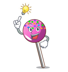 have an idea lollipop with sprinkles mascot vector image