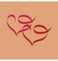 Heart two ribbon vector image