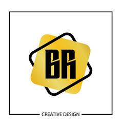 Initial letter br logo template design vector