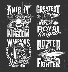 knight warrior emblems spartan gladiator on horse vector image