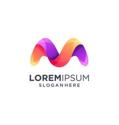 Letter m logo icon design template vector