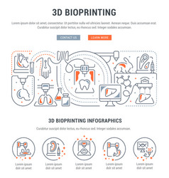 Linear banner 3d bioprinting vector