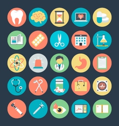 Medical colored icons 3 vector