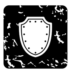 Medieval shield icon grunge style vector