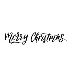 merry christmas calligraphy greeting card design vector image