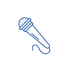 microphone line icon concept microphone flat vector image