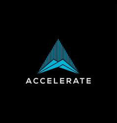 Modern technology logo triangle shape - internet vector